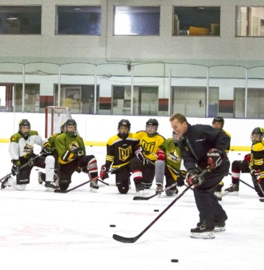 P3 Hockey academy coach training athletes
