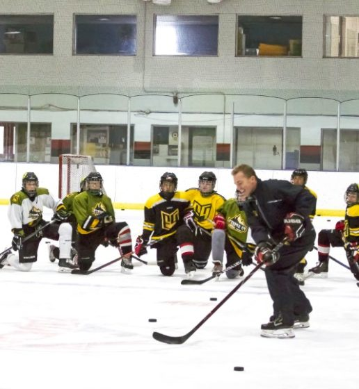 P3 Hockey academy coach training athletes