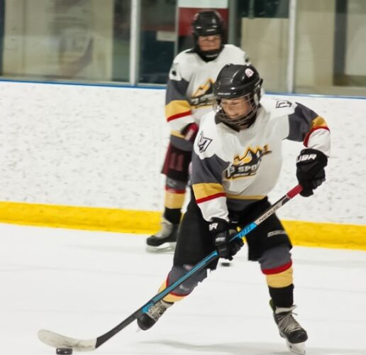 P3 Hockey academy with an athlete playing hockey