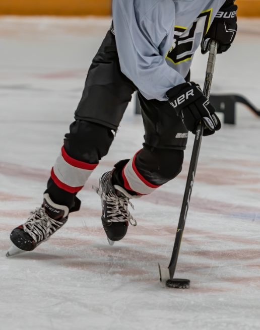 Athlete playing hockey at Sports Camps Summer Program