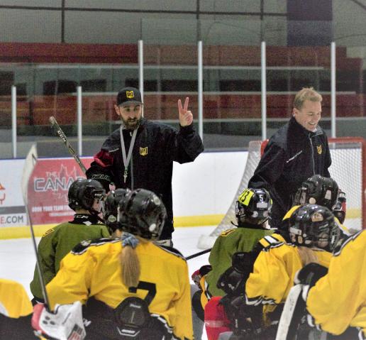P3 custom hockey Precise team training